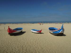 Fischerboote in Nazaré