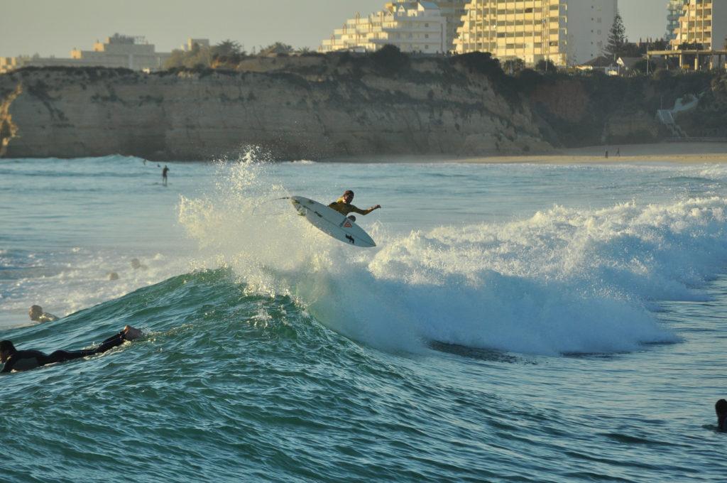 Surfen in der Algarve @ Praia da Rocha